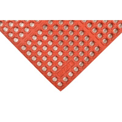 Cushion-Tred Utility Mat Color: Red, Size: Square 3 x 3