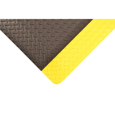Saddle Trax Utility Mat Color: Black/Yellow, Size: 3 x 5
