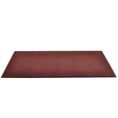 Solid Dante Doormat Color: Burgundy, Size: 3 x 4