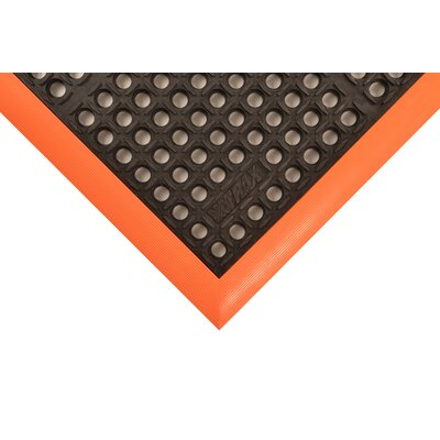 Safety Stance Utility Mat Size: Rectangle 32 x 34, Color: Orange/Black