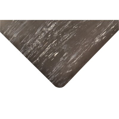 Marble Sof-Tyle Grande Utility Mat Mat Size: Rectangle 3 x 5, Color: Black