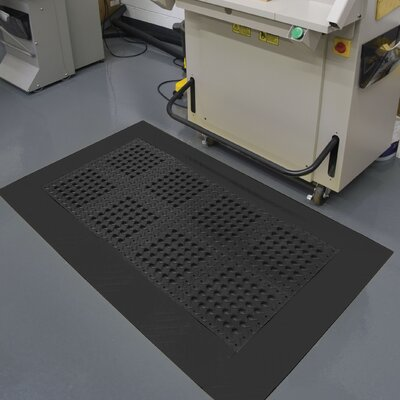 Diamond Flex Lok Utility Mat Mat Size: Runner 26 x 8, Color: Black