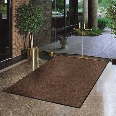 Solid Estes Doormat Color: Brown, Size: 3 x 5