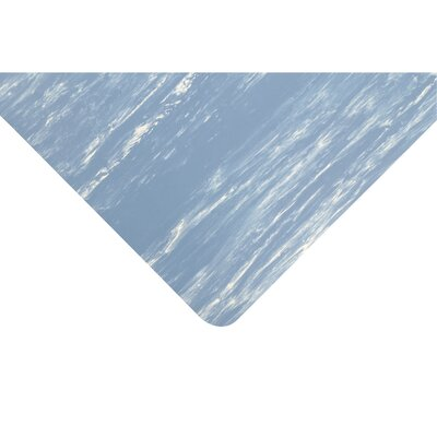 Marble Sof-Tyle Grande Utility Mat Size: Rectangle 3 x 5, Color: Blue
