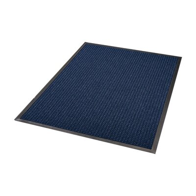 Guzzler Solid Doormat Size: Rectangle 3 x 5, Color: Blue