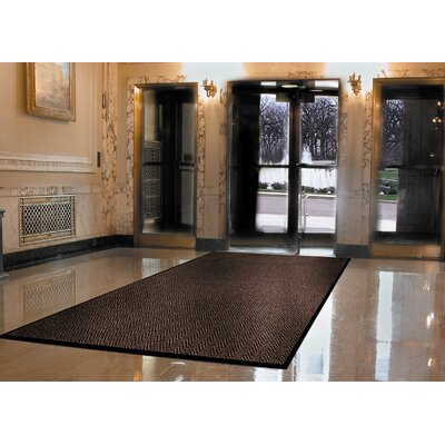 Arrow Trax Doormat Size: Rectangle 3 x 5, Color: Gray