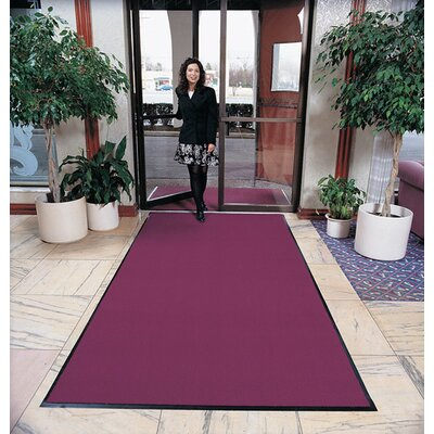 Solid Ovation Doormat Mat Size: Rectangle 3 x 6, Color: Burgundy