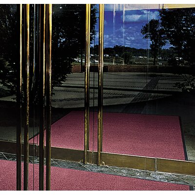 Prelude Doormat Size: Rectangle 2 x 3, Color: Burgundy