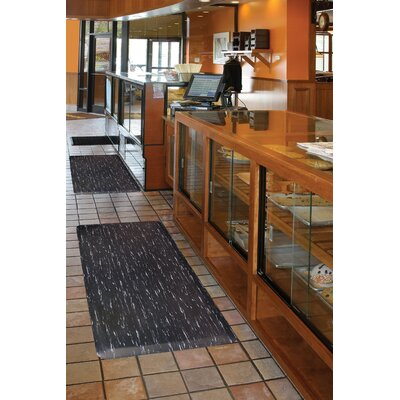 Marble Sof-Tyle Utility Mat Mat Size: Rectangle 3 x 5, Color: Black
