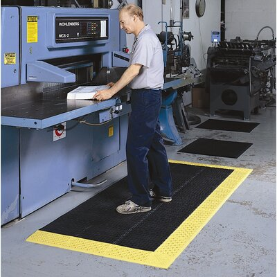 Cushion-Lok HD Utility Mat Mat Size: Runner 36 x 10, Color: Black/Yellow