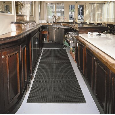 Cushion-Tred Utility Mat Size: Rectangle 3 x 5, Color: Black