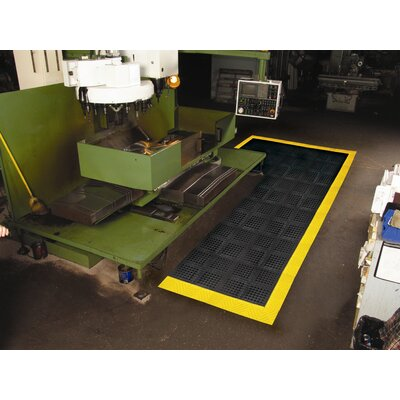 Diamond Flex Lok Utility Mat Color: Black/Yellow, Size: Runner 36 x 10