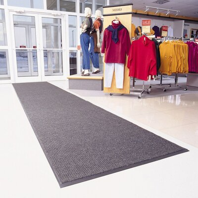 Heritage Rib Doormat Size: Runner 3 x 10, Color: Gray
