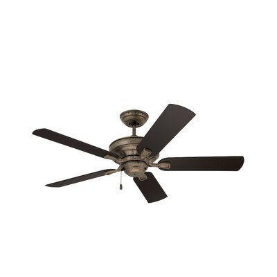 Lindley 52 5 Blade Ceiling Fan Finish: Vintage Steel