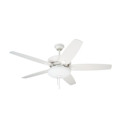 52 Millfield 5 Blade Ceiling Fan Finish: Satin White with Satin White and Maple Blades