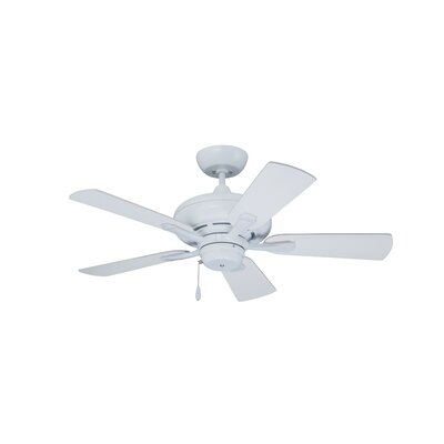 42 Monterey 5-Blade Ceiling Fan Finish: Satin White with Satin White and Maple Blades