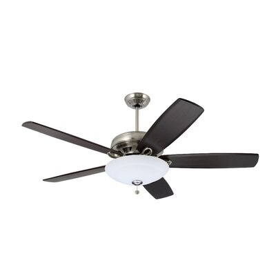 58 Clarris 5-Blade Ceiling Fan in Brushed Steel