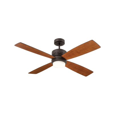 50 Milledgeville 4 Blade Ceiling Fan Finish: Oil Rubbed Bronze with Natural Cherry Blades