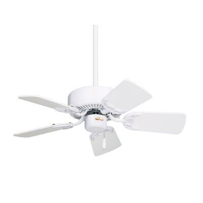 29 Willet 5 Blade Ceiling Fan Finish: Appliance White with White/Bleached Oak Blades
