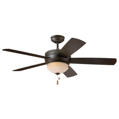 52? Ericson 5 Blade LED Ceiling Fan Blade Finish: Golden Espresso, Motor Finish: Golden Espresso