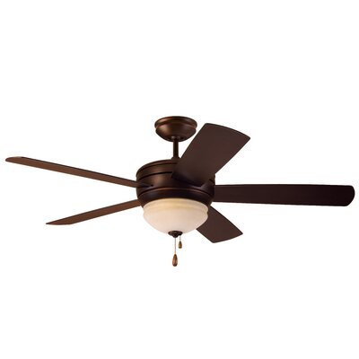 52? Ericson 5 Blade LED Ceiling Fan Blade Finish: Venetian Bronze, Motor Finish: Venetian Bronze
