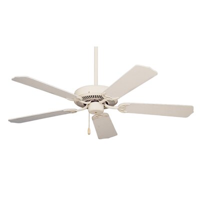 52 Kelsi 5 Blade Ceiling Fan Finish: Appliance White with White/Bleached Oak Blades