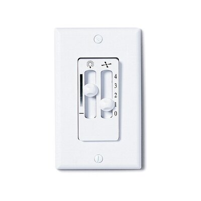 Cenat White Dual Slide Ceiling Fan and Light Wall Control