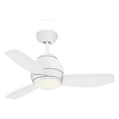 Oshawa 44 3 Blade Ceiling Fan Finish: Appliance White