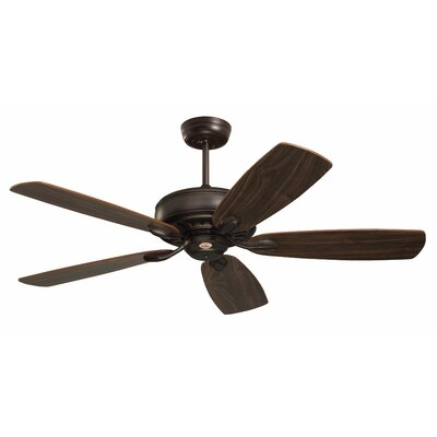 52 Milan 5 Blade Ceiling Fan Blade Finish: Oil Rubbed Bronze, Motor Finish: Oil Rubbed Bronze