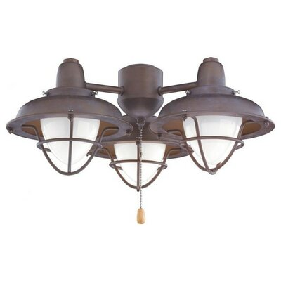 Boardwalk Cage Light Kit Housing Finish: Venetian Bronze