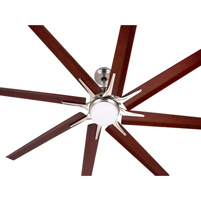 54 Shawnita Eco 8 Blade LED Ceiling Fan Finish: Brushed Steel with Walnut Blades
