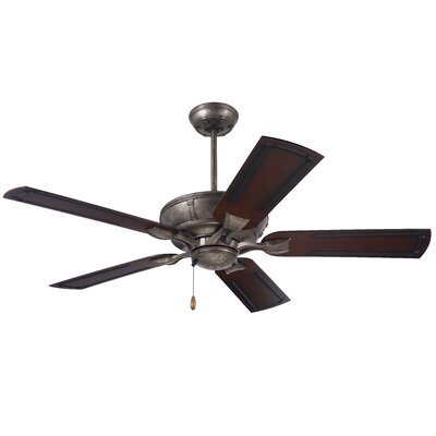 54 Ibiza 5 Blade Ceiling Fan Finish: Vintage Steel