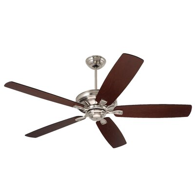 60 Millersport 5 Blade Ceiling Fan Finish: Brushed Steel