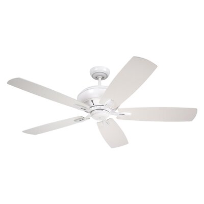 58 Crofton 5-Blade Ceiling Fan Finish: Satin White