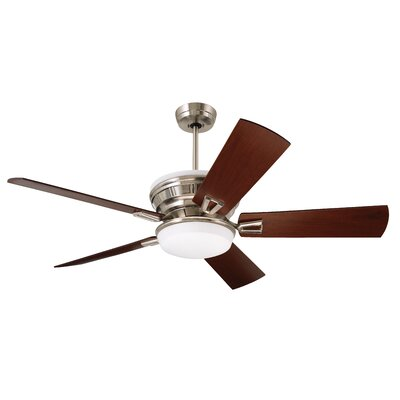 54 Millbury 5 Blade LED Ceiling Fan Finish: Brushed Steel