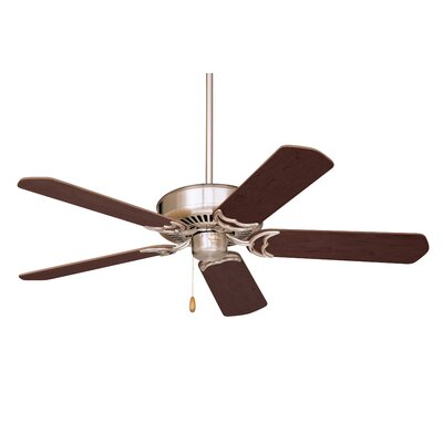 52 Wheeler 5-Blade Ceiling Fan Finish: Brushed Steel with Cherry/Mahogany Blades