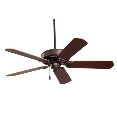 52 5-Blade Designer Ceiling Fan Finish: Oil Rubbed Bronze with Cherry/Medium Oak Blades