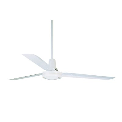 56 Conder Industrial 3-Blade Ceiling Fan Finish: Appliance White