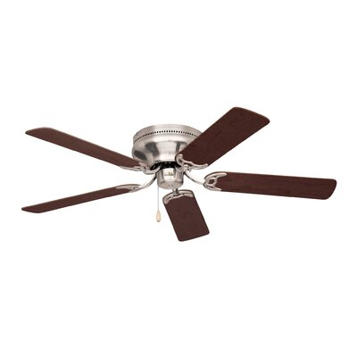 42 Williamson Contemporary 5-Blade Ceiling Fan Finish: Brushed Steel with Cherry/Mahogany Blades