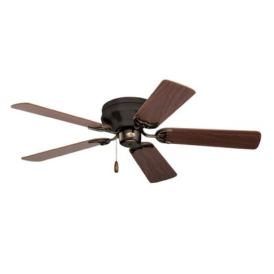 42 Contemporary Snugger 5-Blade Ceiling Fan Finish: Oil Rubbed Bronze with Cherry/Medium Oak Blades