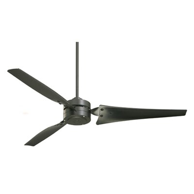 60 Loft 3-Blade Indoor/Outdoor Ceiling Fan Finish: Barbeque Black