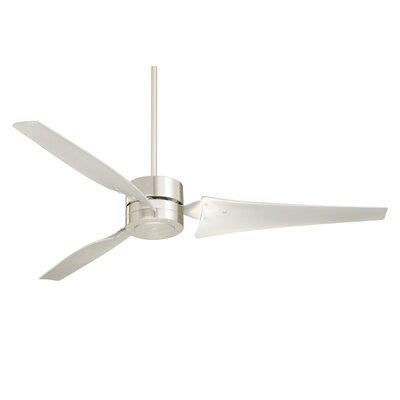 60 3 Blade Ceiling Fan Finish: Brushed Steel