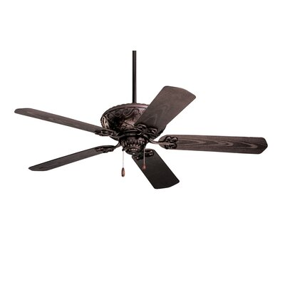 Wespi 52 Ballentine 5-Blade Ceiling Fan Color: Oil Rubbed Bronze with Oil Rubbed Bronze Blades