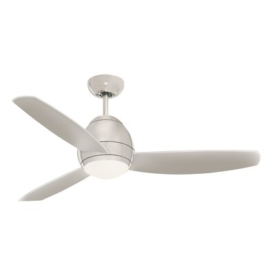52 Oshawa 3 Blade Ceiling Fan with Remote Finish: Brushed Steel