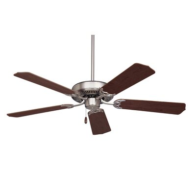 52 Kelsi 5 Blade Ceiling Fan Finish: Brushed Steel with Cherry/Mahogany Blades