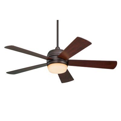 52 Argelia 5 Blade LED Ceiling Fan Finish: Oil Rubbed Bronze with Mahogany Blades