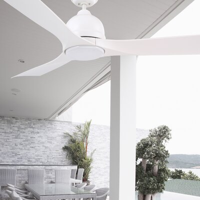 54 Leath 3-Blade Ceiling Fan Finish: Satin White