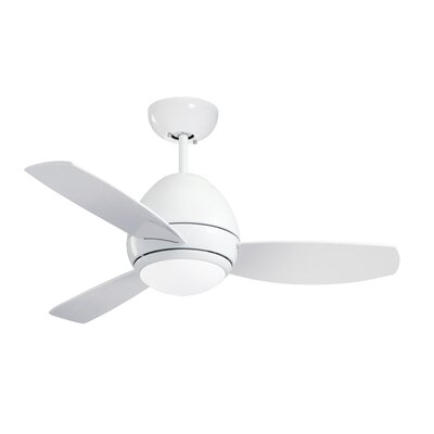 52 Imler 3 Blade Outdoor LED Ceiling Fan Finish: Appliance White, Size: 14.9 H x 52 W x 52 D