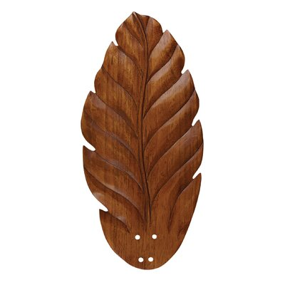 22 Hand Carved Leaf Blades (Set of 5) Finish: Dark Oak