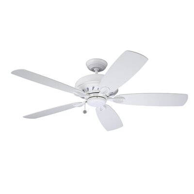 58 Clarris 5 Blade LED Ceiling Fan in Satin White